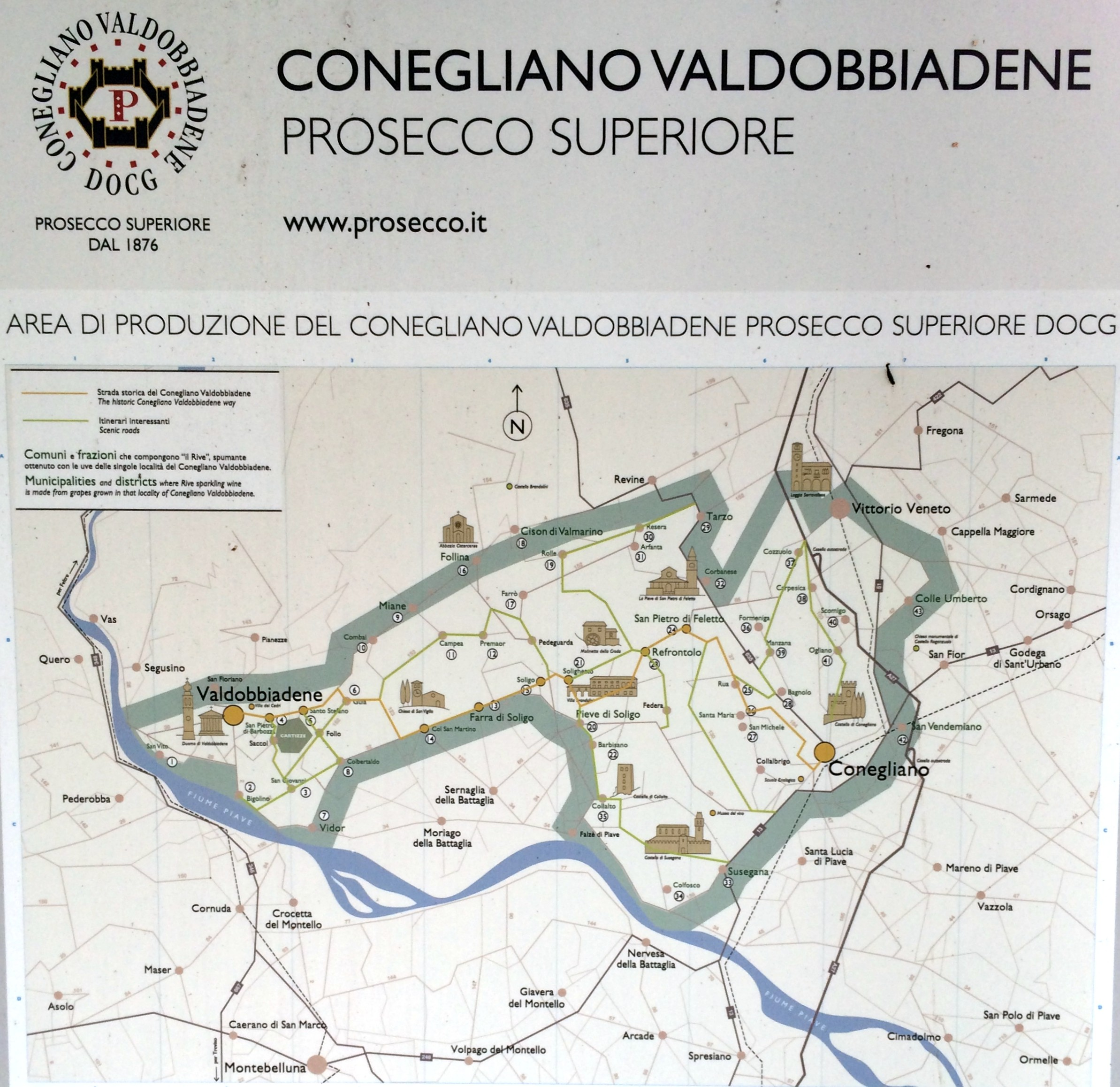 Prosecco Region Italy Map.The Prosecco Wine Region Bubbly And Much More Coupletrips